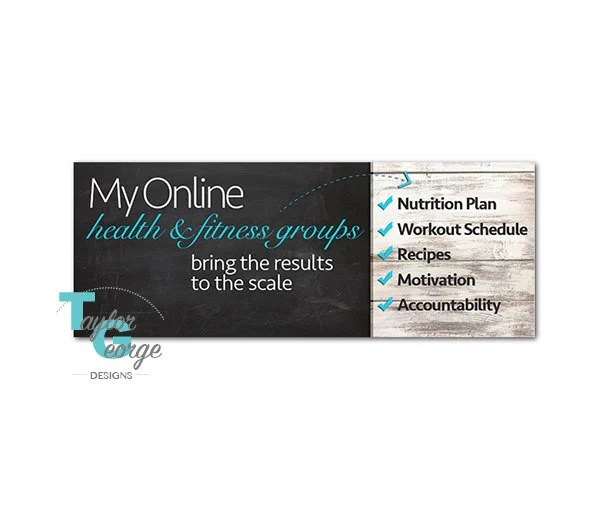 Health  Fitness Coach Challenge Group Facebook Cover Photo