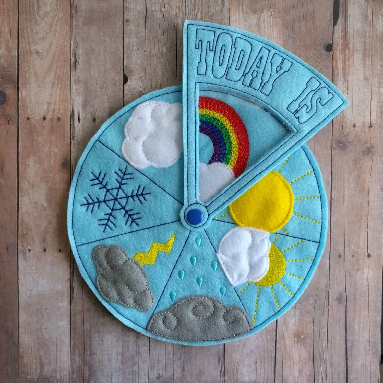 Today S Weather Wheel Teach Weather To Children For