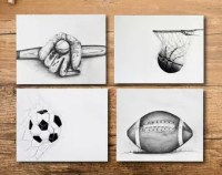 Sports nursery decor