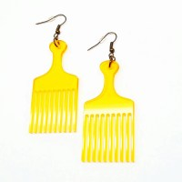 Afro Hair Pick Earrings.AFRO PICK EARRINGS Made Out Of ...