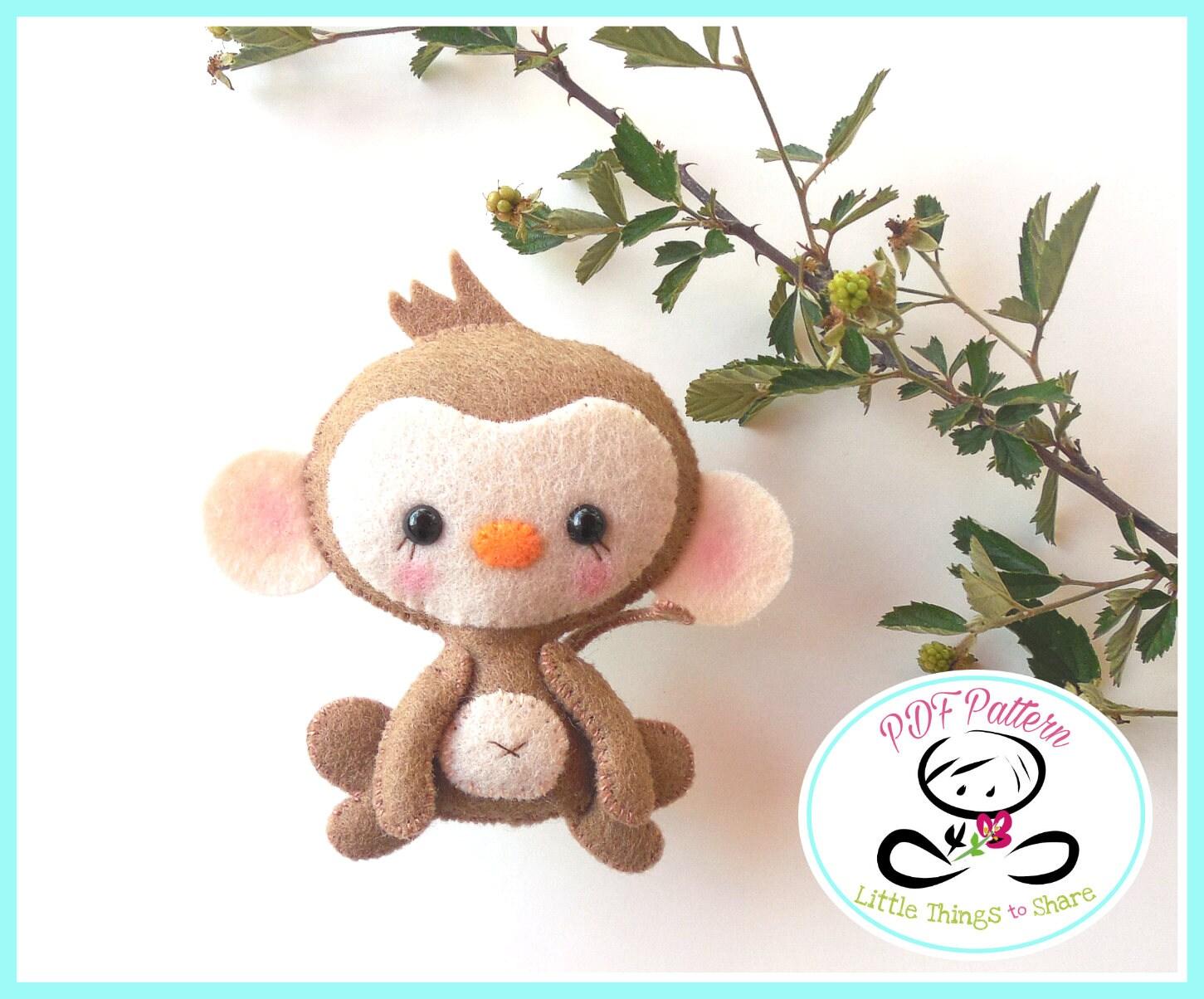 Baby Monkey Sewing Pattern Diy Monkey Toy Pattern Safari