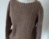 Hand knitted jumper, oatm...