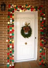 Red Green garland, Christmas door decor, Front Door ...