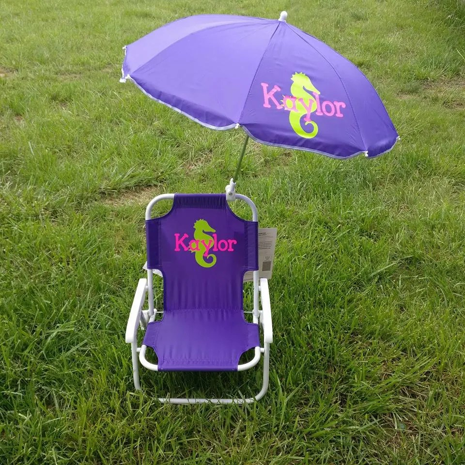 toddler beach chair with umbrella swivel base kids childrens and monogrammed