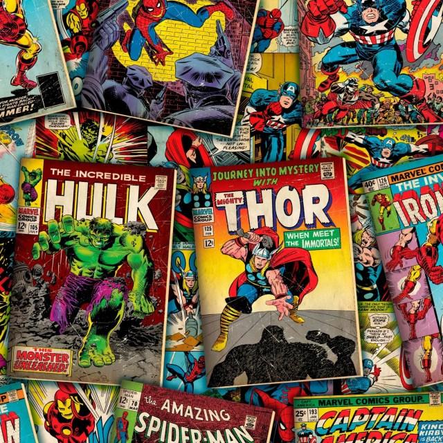Marvel Comic Covers Fabri...