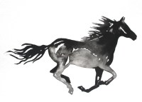 Horse Painting Wall Art Abstract Horse Print Black and White