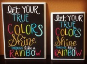 5 x 7 true colors sign trolls art