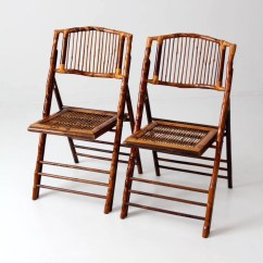 Bamboo Folding Chair Swing Stand Price Vintage Chairs Set Of 2