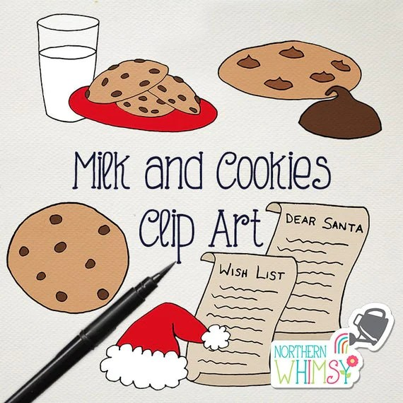 christmas clip art milk and cookies