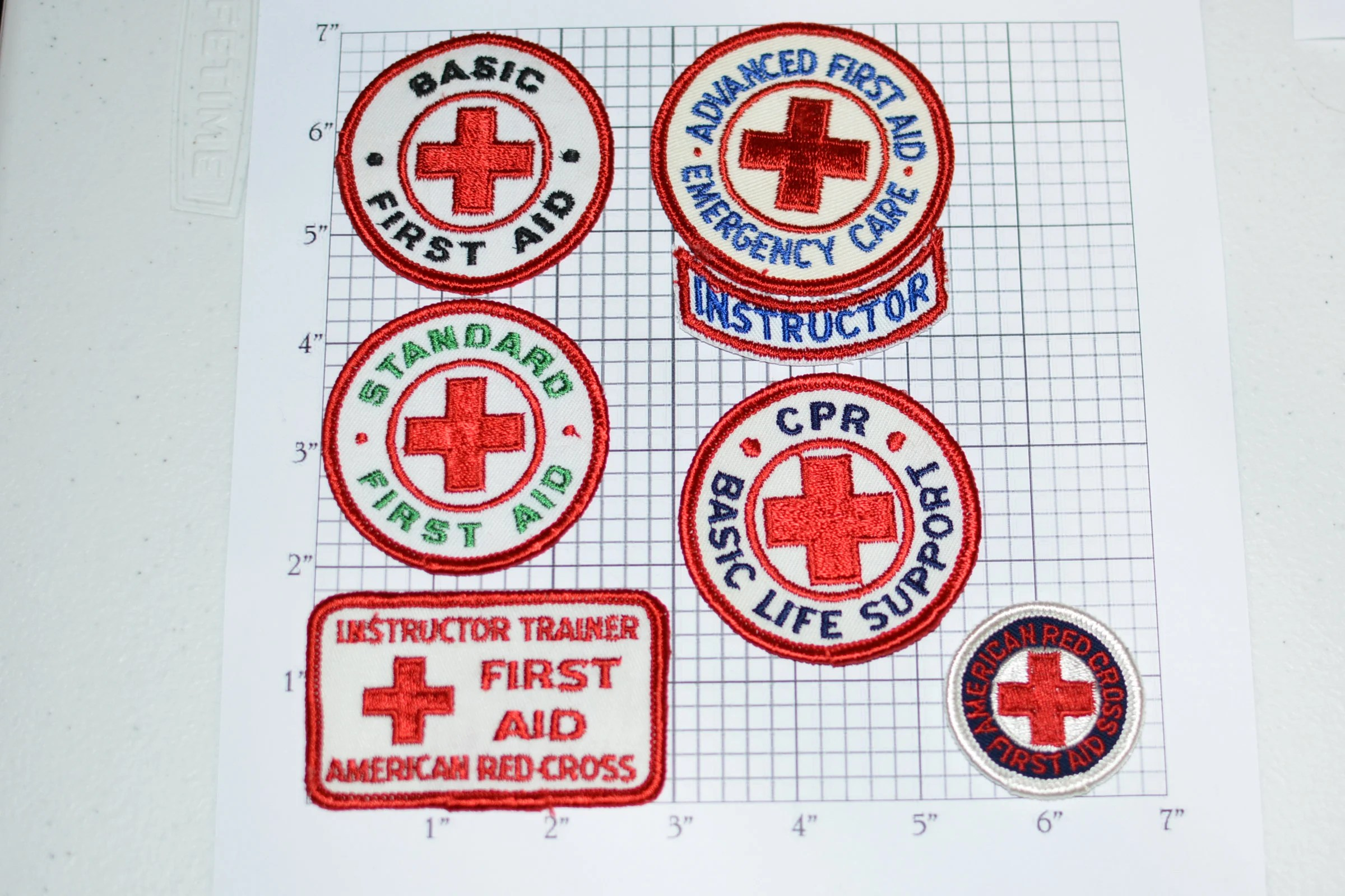 American Red Cross Arc First Aid Rare Vintage Sew On