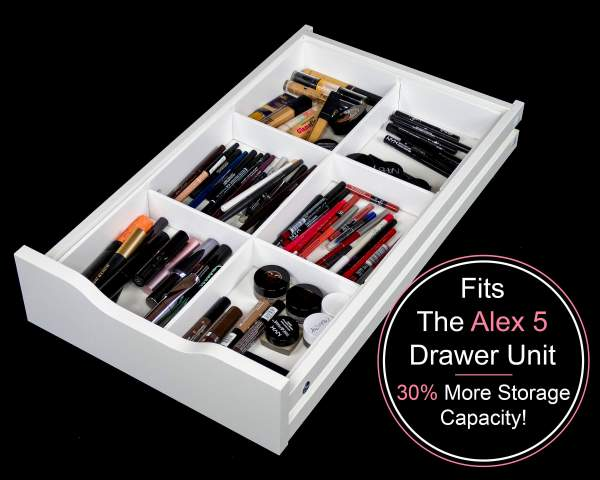 6 Divider Drawer Organizer Fits Alex 5 Drawer Unit Makeup