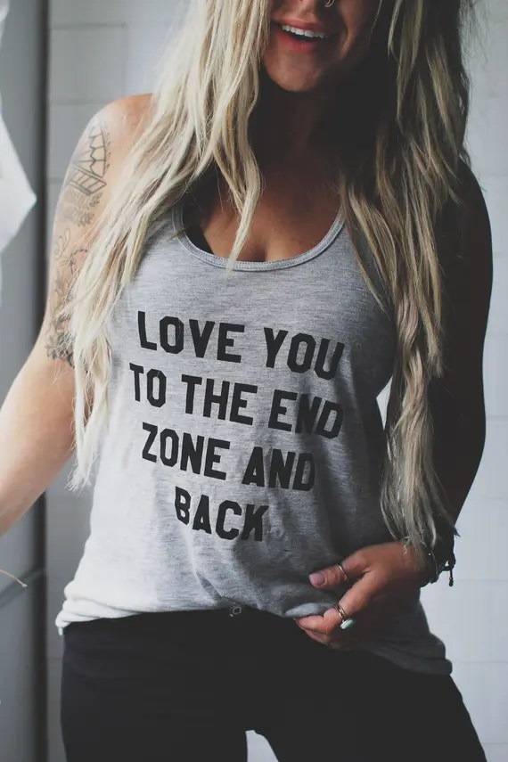 Download Love You To The End Zone And Back End Zone Tee Football