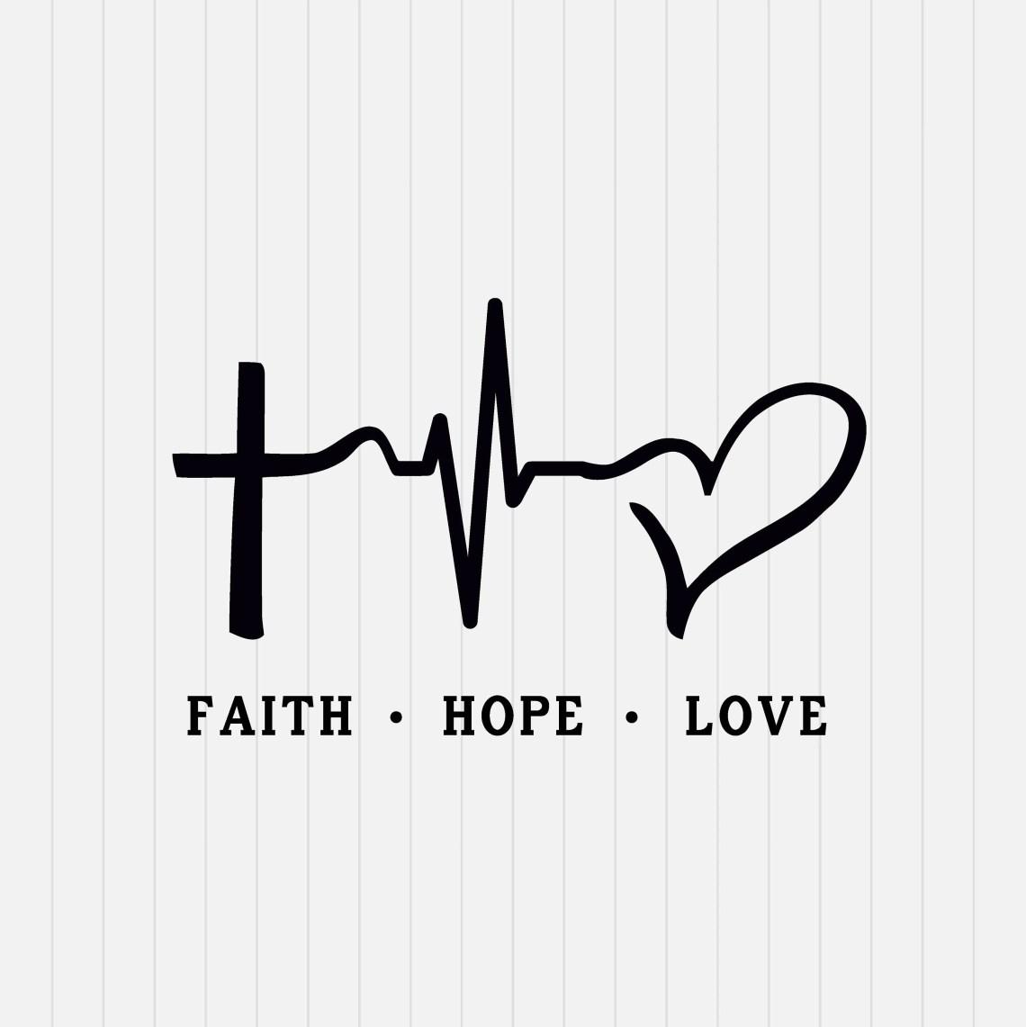Download Faith Hope Love SVG File SVG Cutting File Cricut SVG