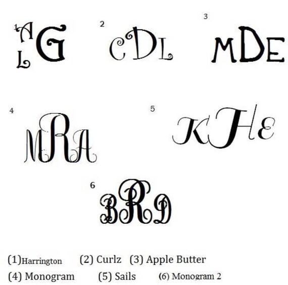 Monogrammed greek key duffle bag