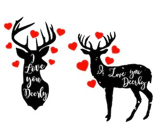 Download I Love You Deerly Sign Wood sign Woodsy decor woodsy nursery