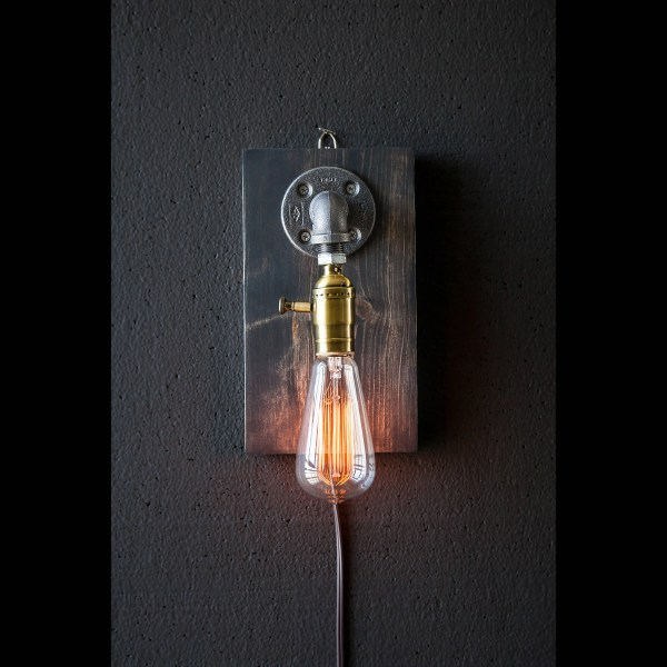 Plug In Wall Sconce Lamp-rustic Decor-sconce Lamp