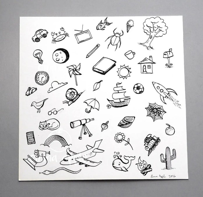 Hand Drawn Objects Look a...