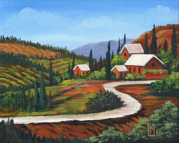 Tuscan Farmhouse 8x10 Acr...