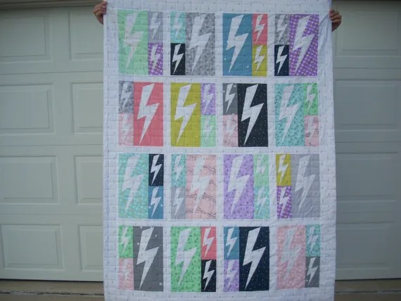 believe lightning crashes quilt - FREE SHIPPING