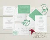 Mint, teal formal wedding...