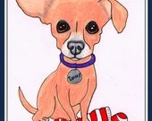 Dog Drawing, Custom Dog, ...