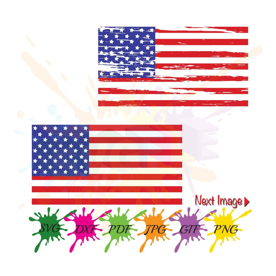 Download Distressed American Flag SVG Files for Cutting Cricut Designs