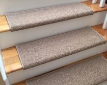 Alfa Dusk 100% Wool TRUE Bullnose™ Carpet Stair Tread JMish (Sold Per Step/Each)