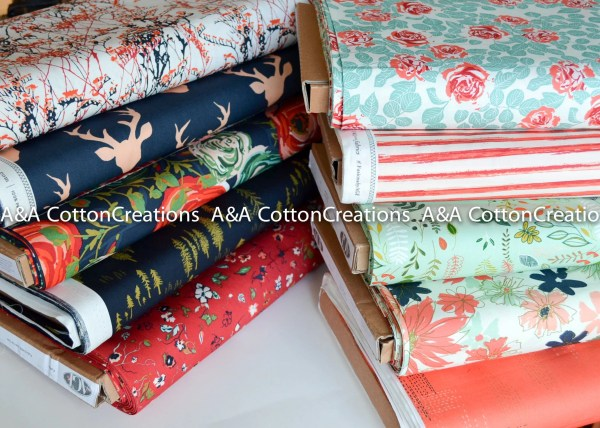 Woodlands Fusion Collection Of 10 Navy Red Coral Mint