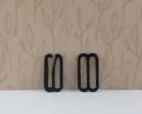 Bow tie hook and eye clasp with slide adjuster 10 sets