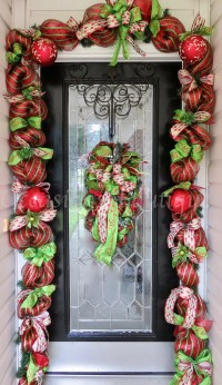 Christmas Wreath with Matching Garland Christmas Decor Door