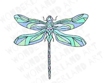 watercolor dragonflies dragonfly