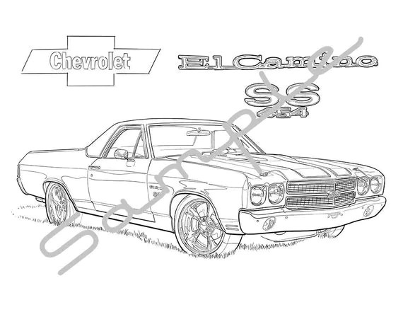 El Camino Car Coloring Pages Coloring Pages