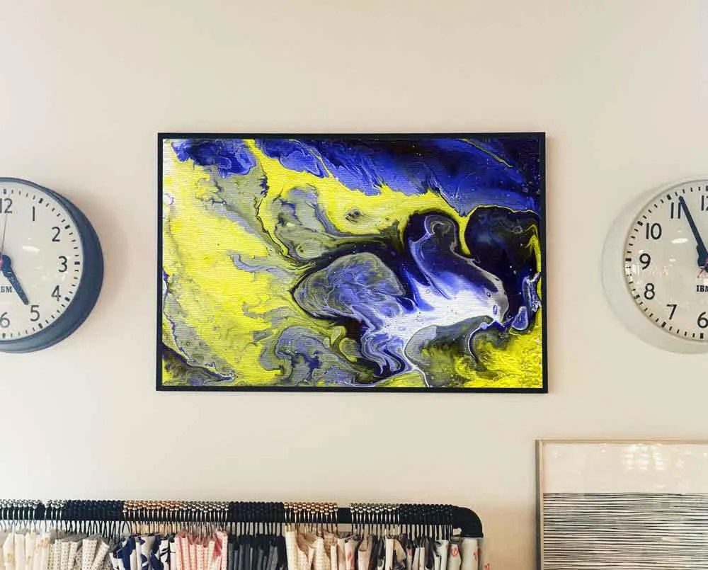 Abstract Painting Blue an...