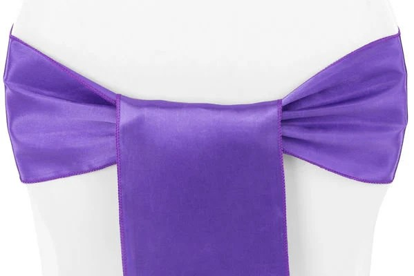 purple chair sashes for weddings 30 sec stand norms wedding bows satin pew party event sold individually