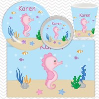 Seahorse Plate, Bowl, Cup, Placemat - Personalized ...