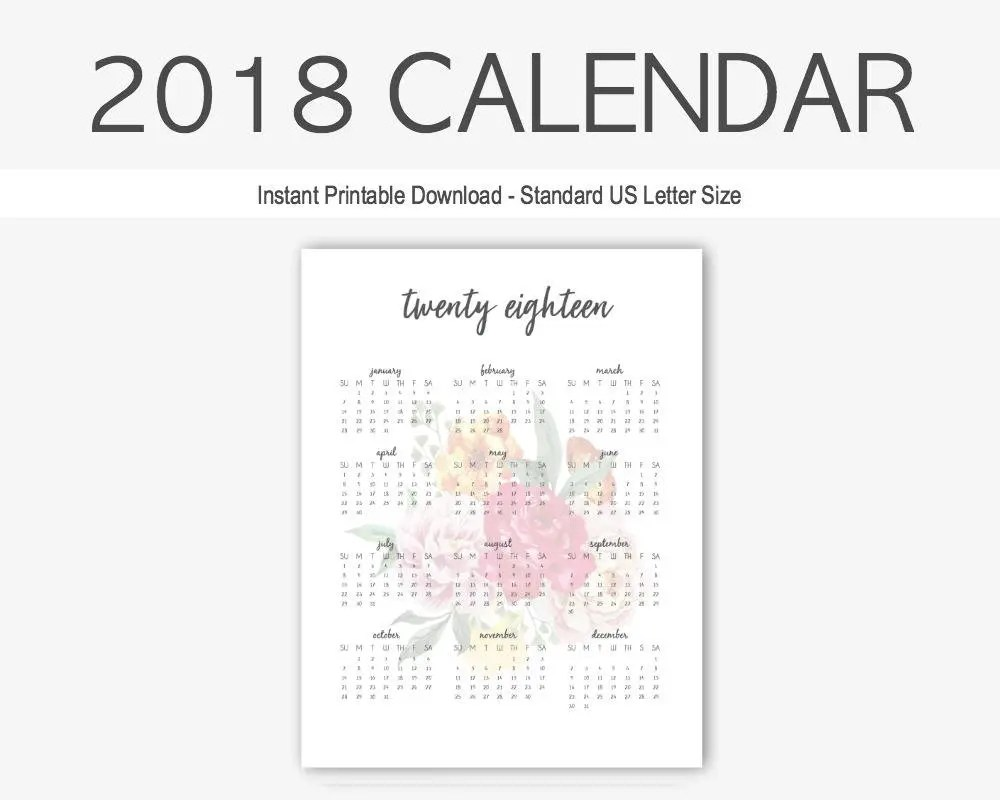 2017 Year-at-a-Glance Calendar: home management binder yearly