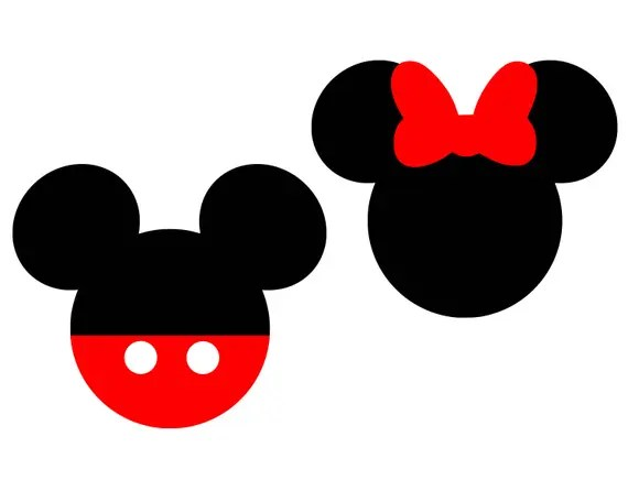 Download Mickey mouse Svg Disney Svg Minnie Mouse Svg Bow SVG Monogram