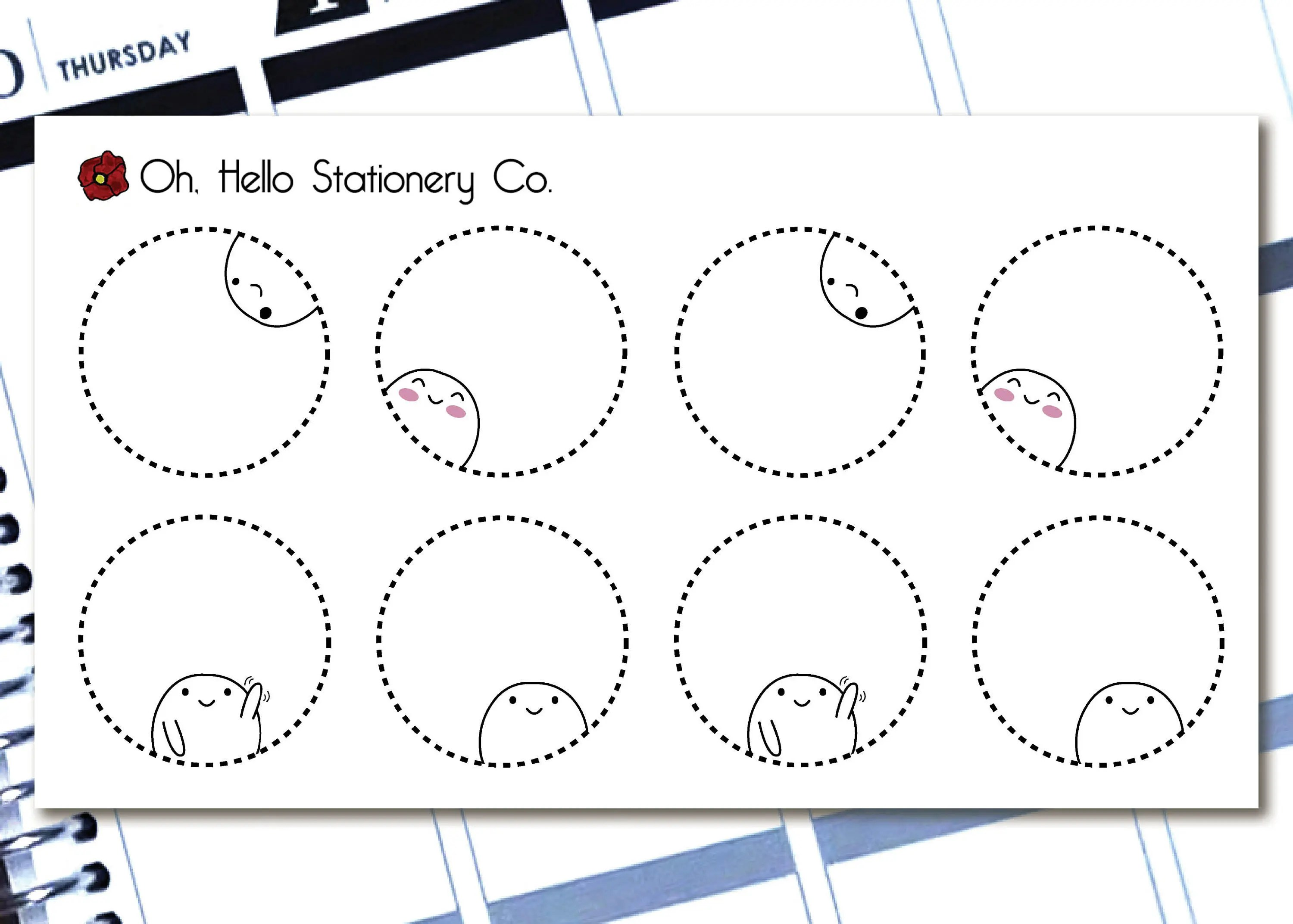 Planner Stickers Greeting Cards and Enamel by