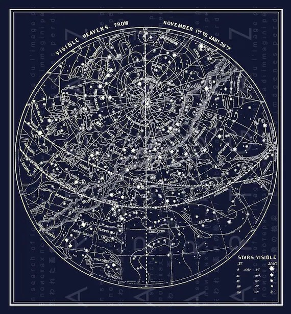 Fall Ceiling Wallpaper Download Antique Illustration Southern Sky Fall Constellations Map Of