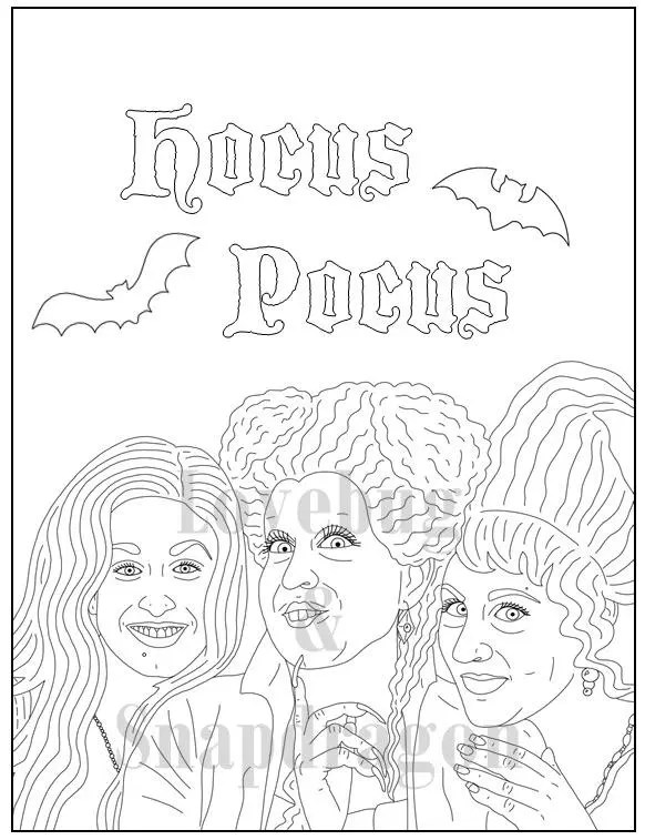 Printable Hocus Pocus Coloring Page