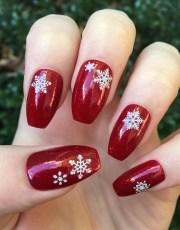 fake nails red stiletto