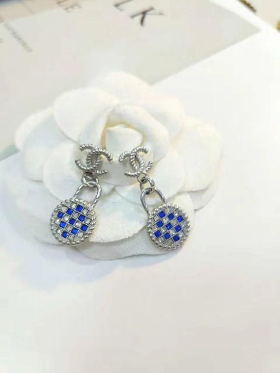 New cute cc earrings chanel inspired