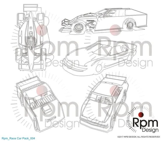 Racecar SVG, Racing SVG, Late Model, Indycar, Stock car