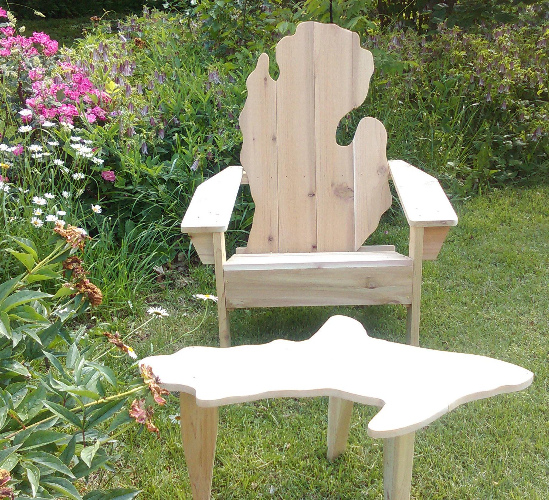 michigan adirondack chair retro wing shape