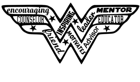 SVG Cut File Wonder Woman Counselor for Tshirt Tote