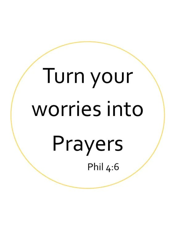Turn your worries into Prayers Digital Print