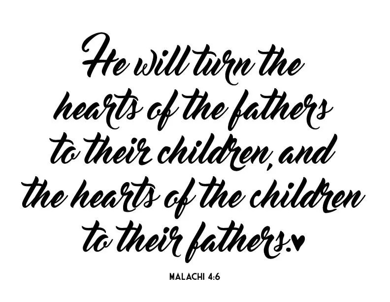 Father bible verse Malachi 4:6 Father's day gift Bible