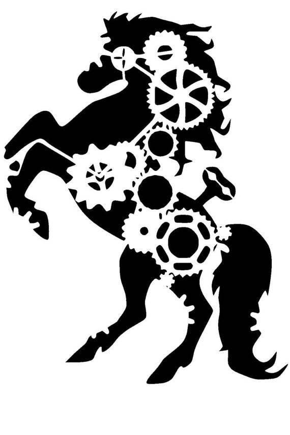 horse stencil / home decor / card making / reusable stencil