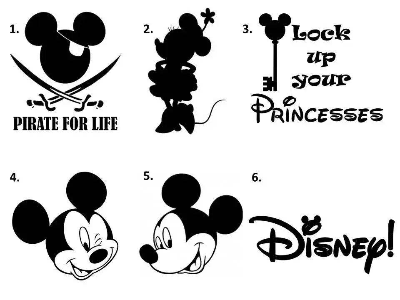 Disney Vinyl Decals Mickey Decals Minnie Decals