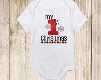 My first christmas onesie Etsy